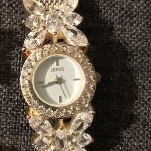 Lenox Swarvoski Crystal Butterfly Watch & Bracelet